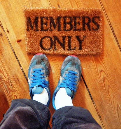 Members only welcome mat