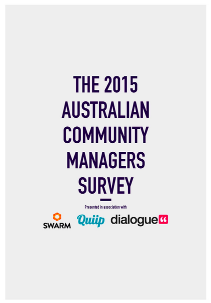 Australian Community Managers Survey 2015